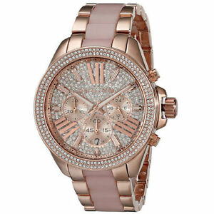 Michael Kors MK6096 Ladies Wren Rose Gold Watch   eBay 440b647845