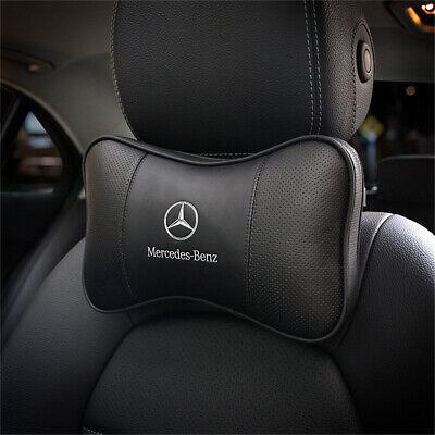 2pcs Neck Pillow Breathable Car Rest Cushion Seat Headrest Fit for Mercedes-Benz