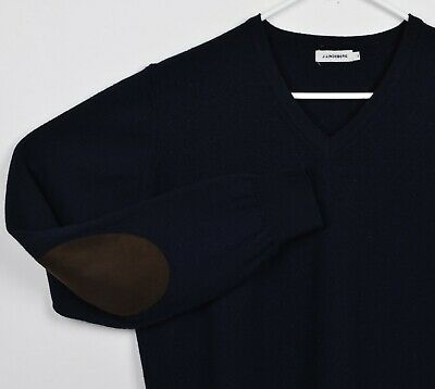 J Lindeberg Men S Sz Medium Shrunk Xl 100 Merino Wool Navy Blue Sweater Ebay