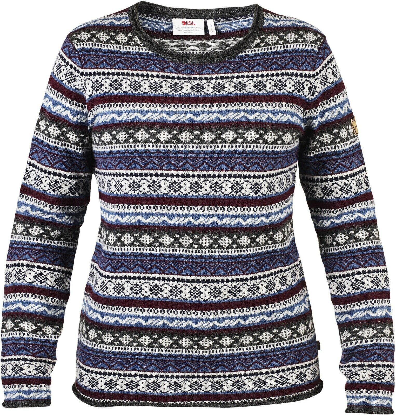 Fjäll Uncle Räven Övik Folk Knit Sweater Woman Gr. L Uncle Fjäll Blau 89770 32962b