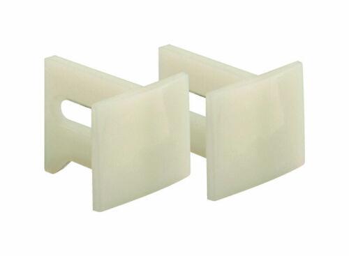 Prime-Line  White  Plastic  Pocket Door Slide Guide  2 pk