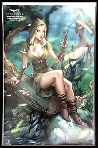ROBYN-HOOD-OUTLAW-3-QUARTERLY-EXCLUSIVE-SABINE-RICH-SIGNED-JOE-BRUSHA-NM-2019