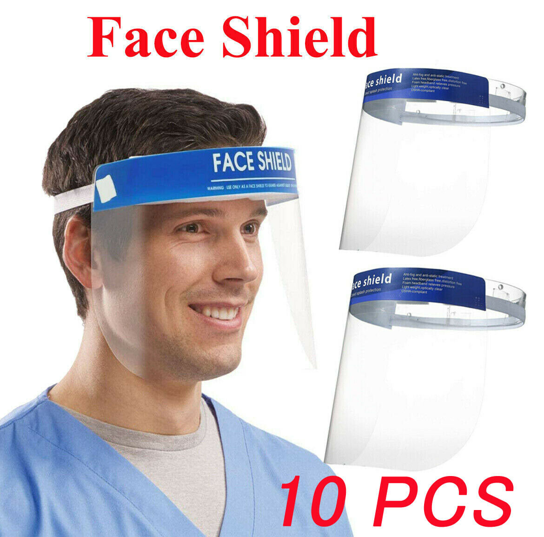 2x Full Face Covering Anti-Fog Shield Glasses Face Protection Tool Visor Kit UK