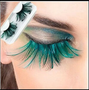 Colorful-Feather-False-Faux-Eyelashes-Long-Costume-Halloween-Party-Cosplay