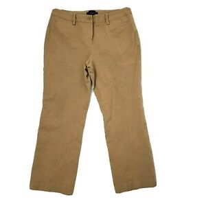 TALBOTS-Solid-All-Light-Brown-Curvy-Pants-Womens-Size-10P-10-Petites