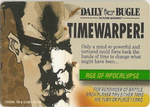 Rare Monumental Legion Marvel OVERPOWER Age of Apocalypse Event Timewarper