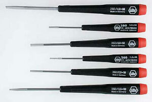 Wiha-26090-6-Piece-Slotted-Screwdriver-Set-with-Precision-Handles