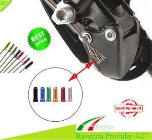 Terminals aluminium gear brake Cables Bike Bicycle MTB cappuccetti Wire 4 pcs