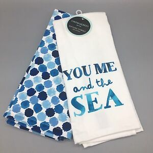 Superior Image Is Loading Cynthia Rowley Kitchen Towel Set Of 2 YOU