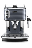 Delonghi Ecz351gy Scultura Pump Coffee Machine: Steel Grey