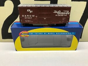 Athearn-Ho-Scale-D-amp-RGW-Rio-Grande-40-HI-Cube-Boxcar-RD-67427-RTR-NOS