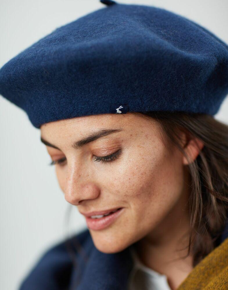 Joules Femme Wilsford Feutre Berret-marine Française En Taille Unique