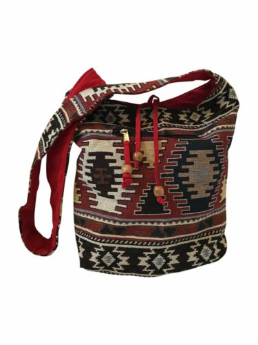 Tapiz De Hombro Bolsa Shopper Patrón Azteca muy fuerte de algodón