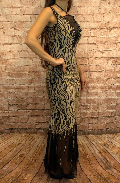 Abendkleid Coctailkleid Abschlussballkleid Maxikleid Kleid Sexy Tigermuster Tigermuster Tigermuster neu | Deutschland  | Neuheit Spielzeug  | Primäre Qualität  db890b
