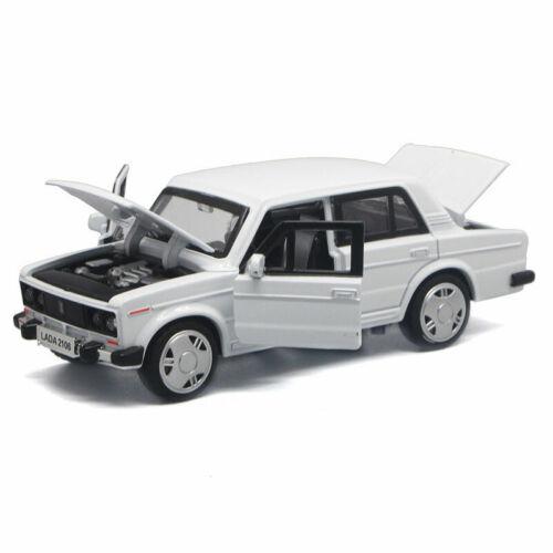 1:32 VAZ Lada 2106 Modellauto Metall Die Cast Spielzeugauto Kinder Ton /& Licht