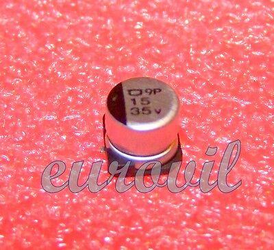 10PZs 100uF 35V SMT SMD condensatori elettrolitici in alluminio  6mm x 8mm