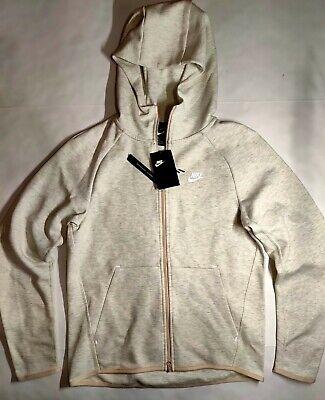 Nike Tech Fleece Full Zip Hoodie Men S Size Small Oatmeal Grey White 928483 141 Ebay
