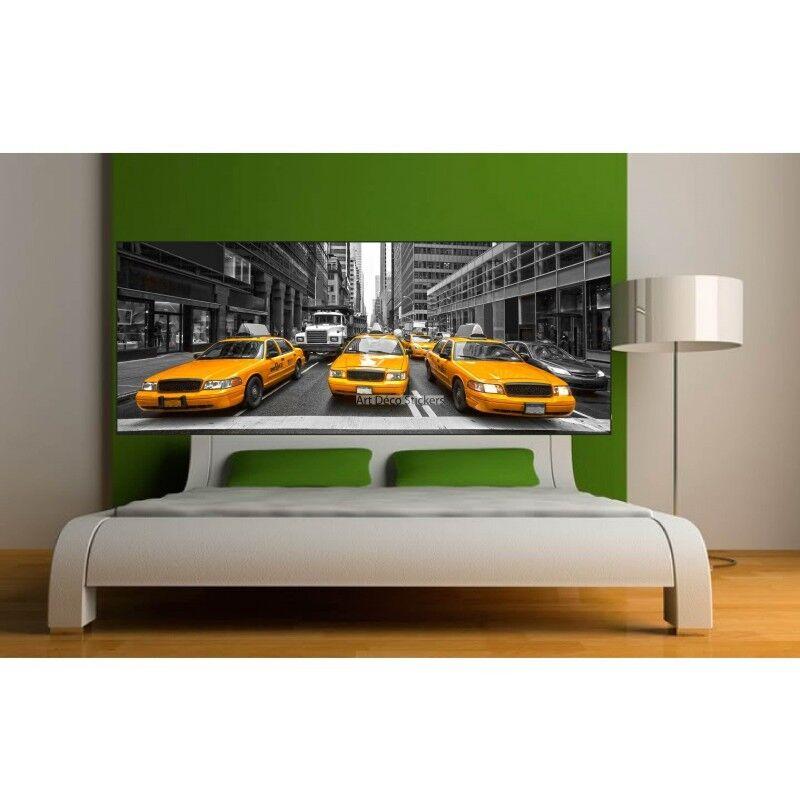 Aufkleber -kopf Bett Deko Zimmer New York Taxi 9127