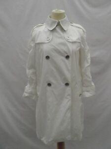 Burberry-Brit-Femmes-Trench-Manteau-de-Pluie-Mac-Blanc-UK-8-NEW-Signature-carreaux-col