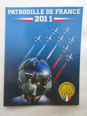 AUTOCOLLANT STICKER ARMEE AIR ALPHA JET HELMET CASQUE PATROUILLE DE FRANCE 2011