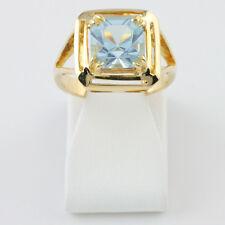 Blautopas Ring aus 750 Gelbgold Größe 51 18 Karat Damen Schmuck R03.2592
