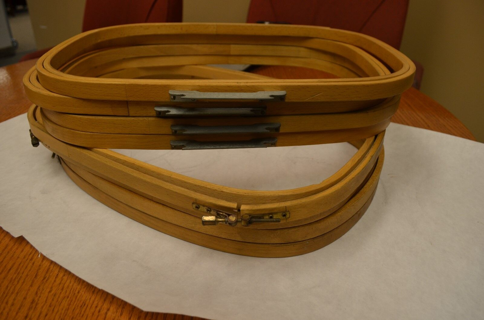 """Melco EMC 16/"""" x 12 DH RECT Wood Industrial Embroidery Machine Hoop"""
