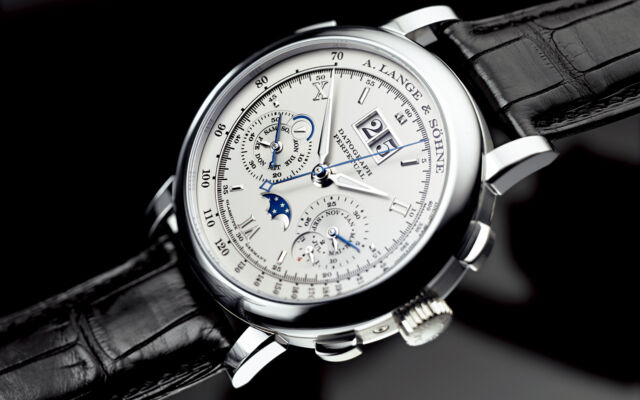 A. Lange & Sohne Datograph Perpetual 41mm Platinum Flyback Chronograph 410.025