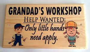 Grandad Dad Shed Workshop Fathers Day 188 Gift Sign Grumpys Garden Plaque