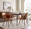 thumbnail 30 - 1 PC Mid Century Modern Leather Upholstered Accent Chair Home Office LivingRoom