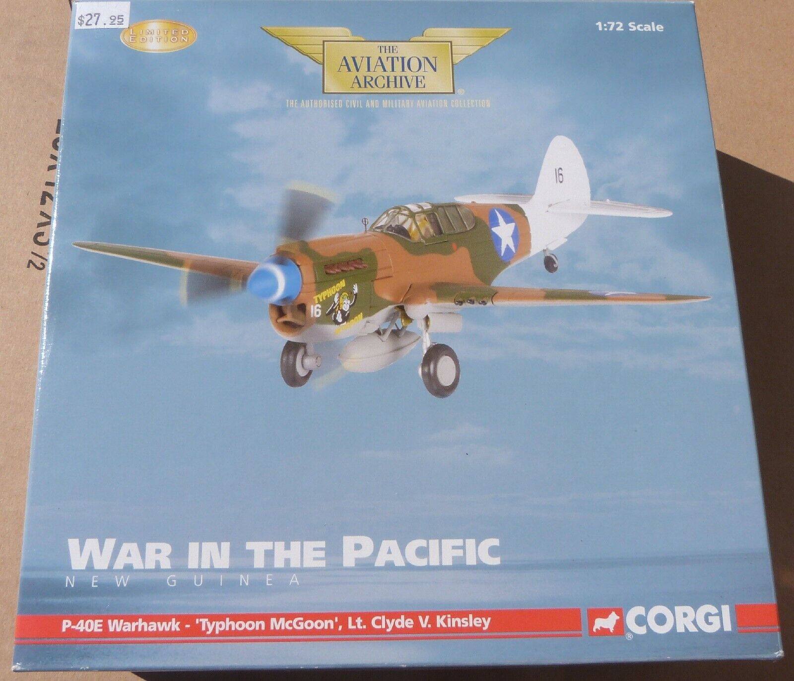 Corgi War in the Pacific P-40E Warhawk 'Typhoon McGoon' diecast plane