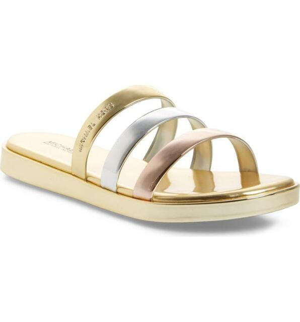 3e3d087b39d04 Michael Kors Keiko Slide Gold Womens Shoes Size 10 M Sandals for ...