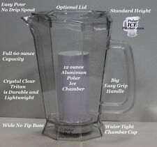 Polar ICE Pitcher with Aluminum Polar ICE Chamber (Crystal Clear / Brushed Alumi