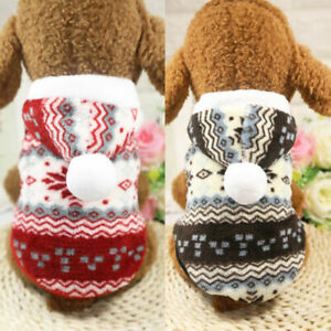 Pet-Dog-Hoodie-Clothes-Winter-Puppy-Warm-Coats-Xmas-Snowflakes-Sweater-Costumes