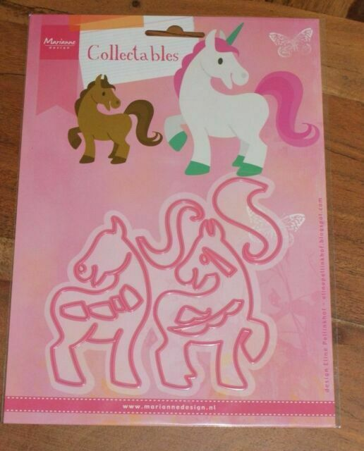 Marianne Design Collectables Horse /& Unicorn Cutting Dies Set COL1408 Pony