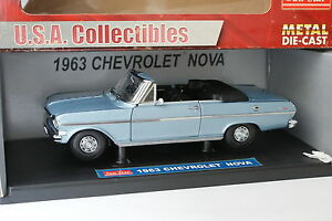 Sun-Star-1-18-Chevrolet-Nova-1963-Bleue