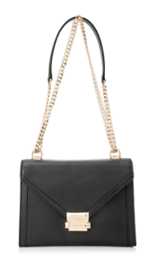 41e2e0804460 Image is loading Michael-Kors-Black-Whitney-Large-Leather-Convertible- Shoulder-