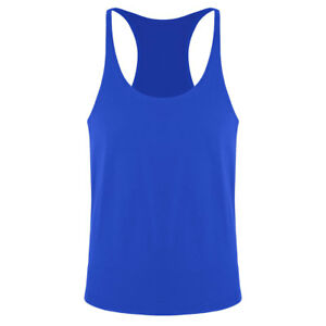 Mens-Y-Back-Bodybuilding-Gym-Cotton-Stringer-Muscle-Vest-Tank-Top-Tee-T-shirts