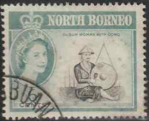 NORTH-BORNEO-1961-QE-II-DEFINITIVE-6c-USED