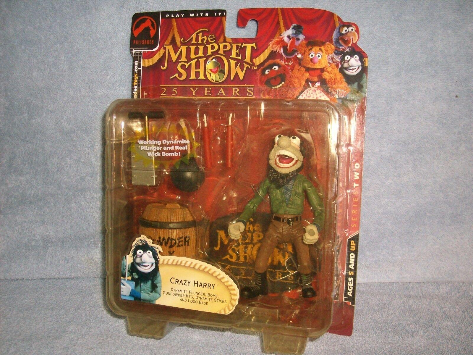 CRAZY HARRY Muppet Show 25 Years Palisades Toys 2002 series 2 Bomb Dynamite New