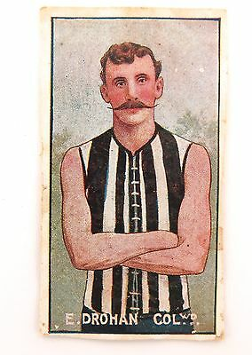 1907 SCARCE SNIDERS & ABRAHAMS VICTORIAN LEAGUE PLAYERS. E DROHAN COLLINGWOOD