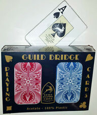 GUILD Arc & Arrow Red and Blue Bridge Size Jumbo Index Playing Cards