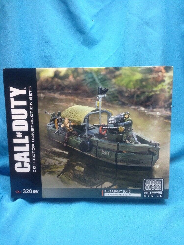 Mega Bloks Collector Series. Call Of Duty( RiverBoat Raid) NIB 2016