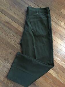 39227c70a4d Vintage LEVI'S 60s 70s STA PREST BIG E GREEN 4 Talon 42 MEN'S PANTS ...