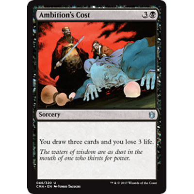 Ambition/'s Cost MTG COMMANDER ANTHOLOGY
