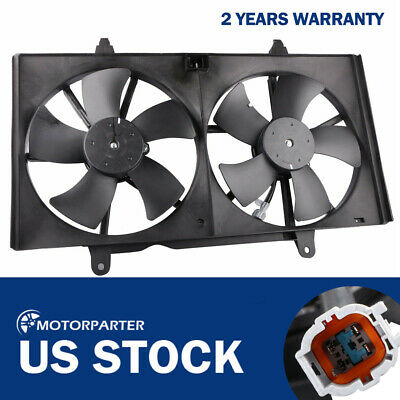 Cooling Direct For//Fit NI3115121 NI3115116 02-06 Nissan Altima 2.5//3.5L 04-08 Maxima Dual Radiator and Condenser Fan Assembly