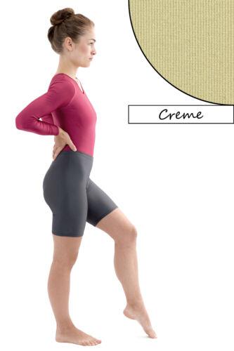 Donna Radler CREMA Radler Pantaloni lucentezza Shorts Shiny STRETCH pantaloni corti lucido