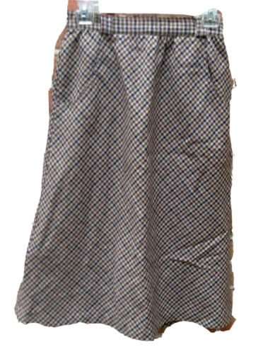 Dark Academia Tailored 1930s 1940s Land Girls Peaky Blinders xs Size 0 2 Vintage 1970s 1980s Brown Wool Houndstooth Pleated A-line Skirt