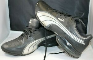 Puma Black and Gray Athletic Leather