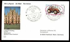 ITALIA 1986 FIRST FLIGHT COVER, FFC Mailand LINATE-Francoforte #C 4683