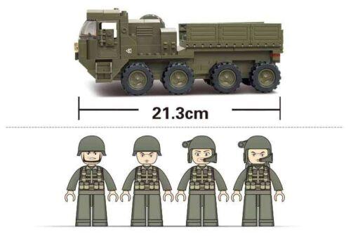 Camion trasporto pesante Costruzioni Mattoncini Militari Sluban M38-B0302 306 pz